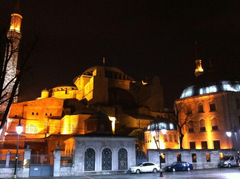 Aghia Sophia at night