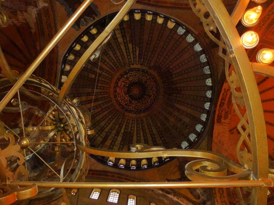 View of dome via candelabra