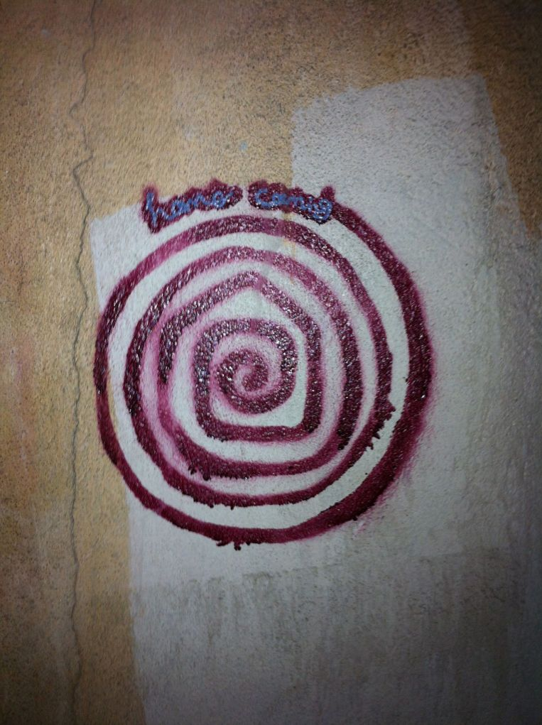 Spiral on wall