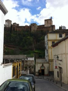 View of Alhambra from the house of a thousand turds