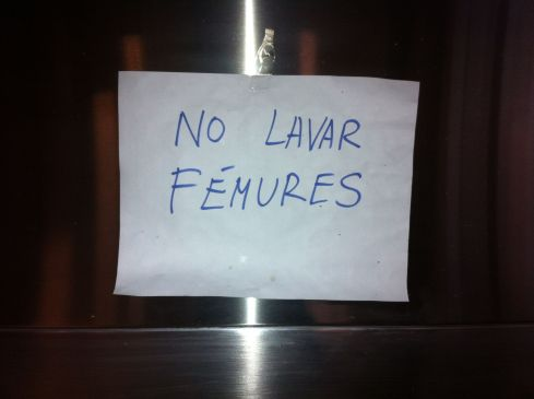 no lavar femures