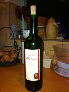 A bottle of Chateau Michel de Montaigne, 2007 vintage