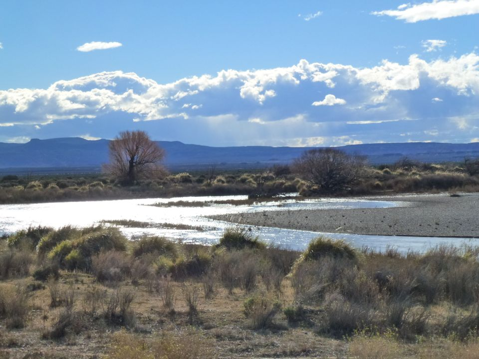 For much of the journey we followed the River Chubut