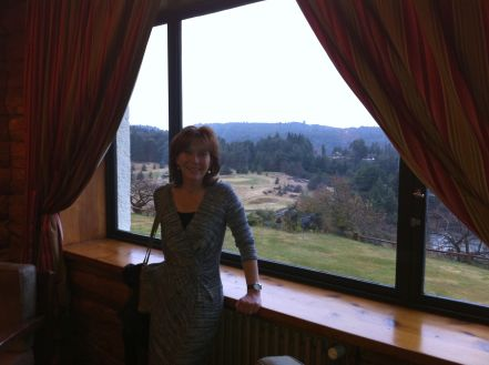 Billionaire fashion guru Mererid Hopwood poses for the press at Llao Llao Hotel, Bariloche.