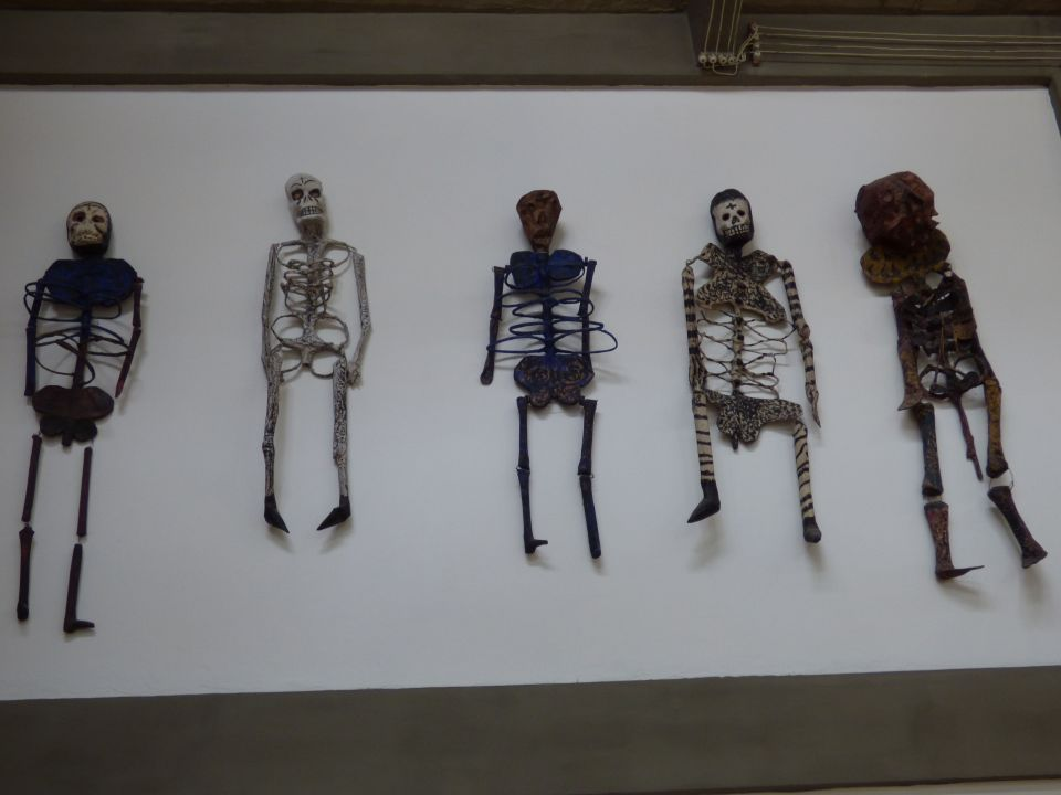 Skeletons in Diego Rivera's studio, San Angél