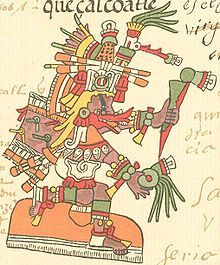 Quetzalcóatl, the plumed serpent deity