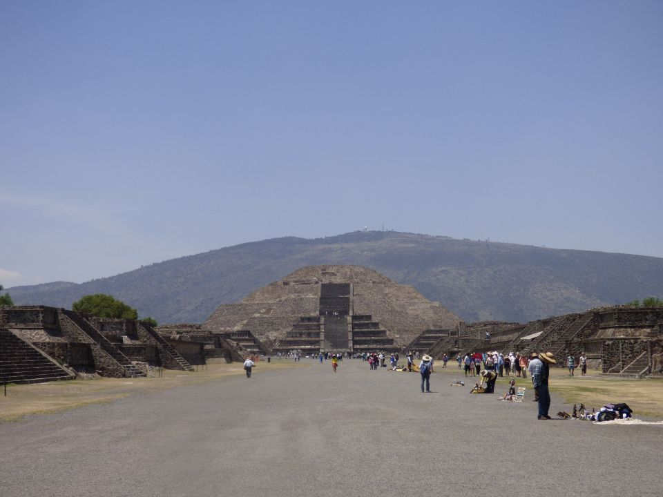 Temple of the Moon, as seen from Avenue of the Dead