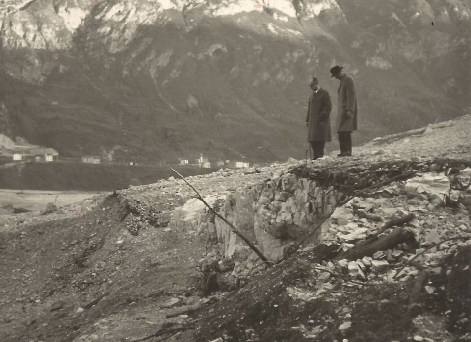 Two men and mountain