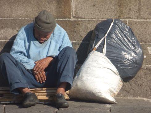 sleeping man Puebla