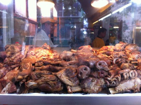 Snouts, gizzards, offal.