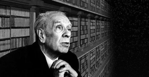 borges in library