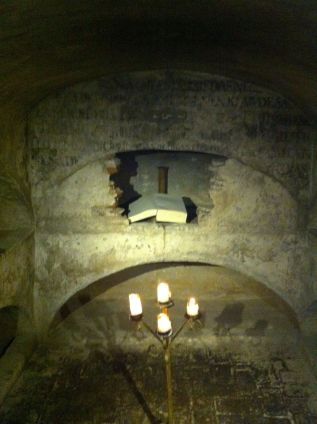Crypt in the bar of the Santa Clara Hotel Cartagena