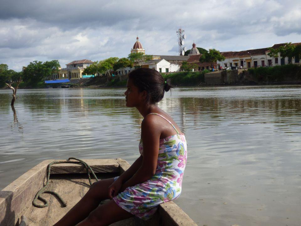 aa girl on boat