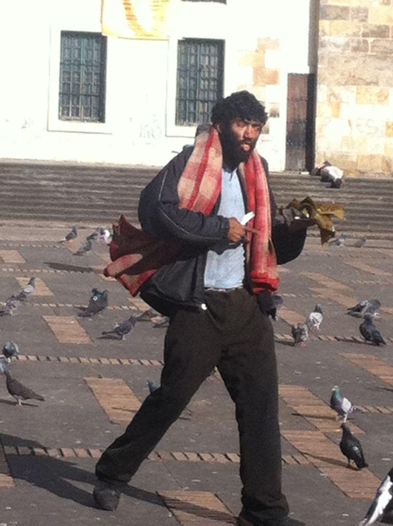 Bogota homeless man
