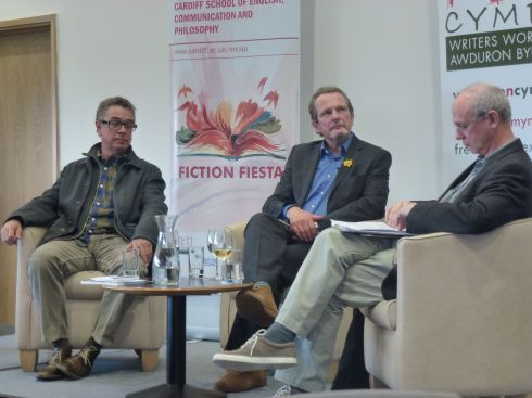 Blanco (centre) with Pedro Serrano (left) and Bill Herbert at Fiction Fiesta