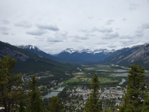 Town of Banff, from Sleeping Buffalo. Mountain