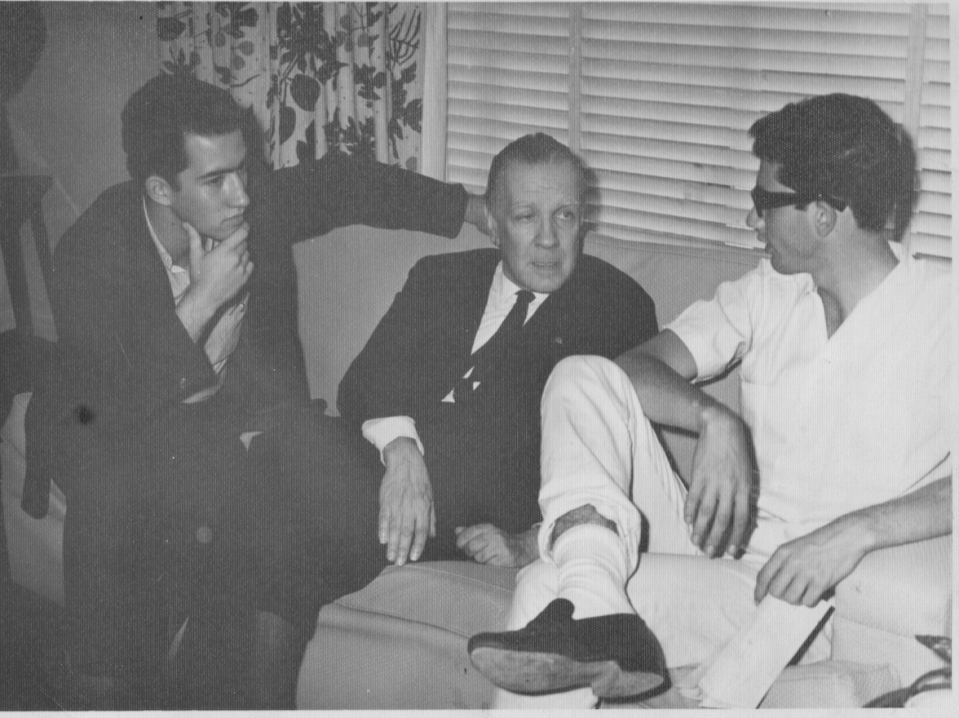 Dario with Borges